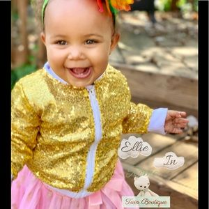 Other - ⚡️ Gold Sequin Jacket Size 9-12 mth ⚡️